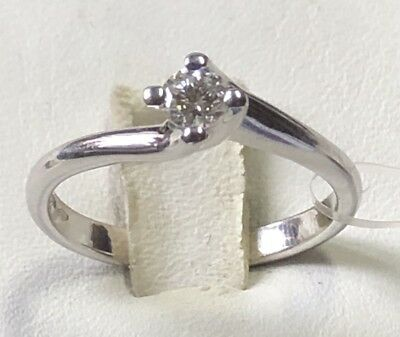 AU1178.88 • Buy Solitaire Ring Valentino White Gold 750 °/°° With Natural Diamond