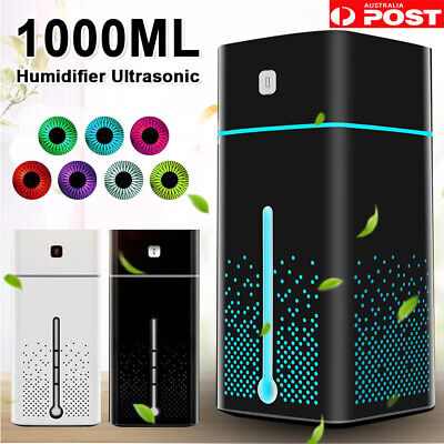 AU17.03 • Buy 1L Air Humidifier Ultrasonic Mist Ultrasonic Aroma Diffuser Purifier 7 Color LED