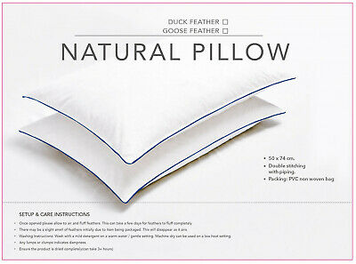 Duck Feather & Down Pillows Pillow Extra Filled Hotel Quality PACK Of 2 & 4 • 12.50£