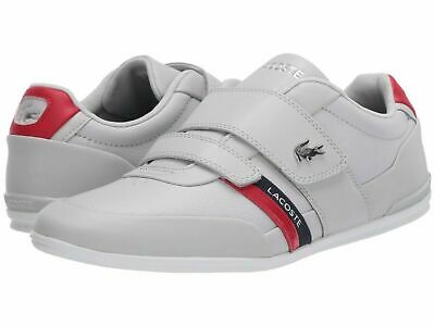 Lacoste Men Shoes Misano Strap 120 Light Grey Leather Casual Sneakers -NEW- • 85.80£