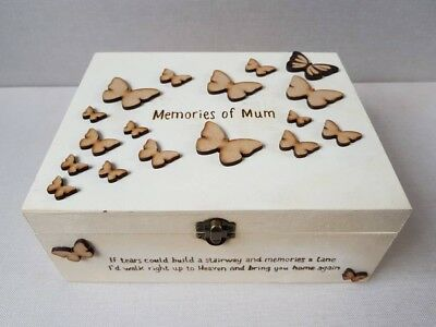 Large Personalised Wooden Memory Box • 29£