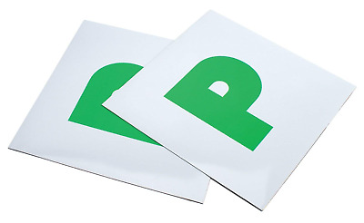 £2.81 • Buy 2 X FULLY MAGNETIC SECURE GREEN NEW DRIVER P PLATES JUST PASSED FOR CAR VEHICLE