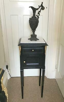 French Louis Marble Top Ormolu Mounts Pot Cupboard Wash Stand Bedside Lamp Table • 95£