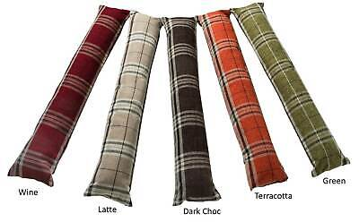 Tartan Check Draft Excluder Draught Stopper Cushion For Doors Zipped Fabric • 12.99£