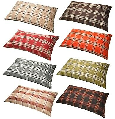 £12.99 • Buy Tartan Check Floor Cushion Large Extra Large Anti Slip Back Removable Zip Cover