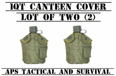 $ CDN28.73 • Buy NEW 2 Pack Tactical Military 1qt Canteen COVER W Alice Clips & Pouch OD GREEN