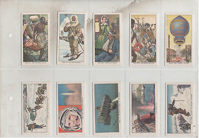 Kellogg 1963 Set Of 12  Famous Firsts  Trade Cards (12) • 3.50£
