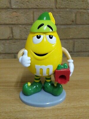 Limited Edition M&M Yellow Elf Christmas Candy Sweet & Chocolate Dispenser Mars  • 8.89£