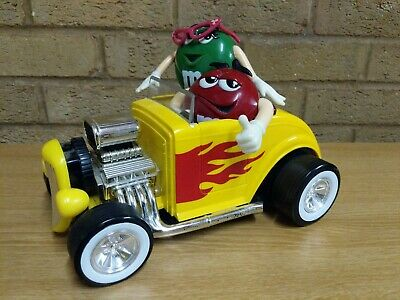 £6.99 • Buy M&M World Yellow Hot Rod Red & Green Chocolate Candy Dispenser Mars (incomplete)