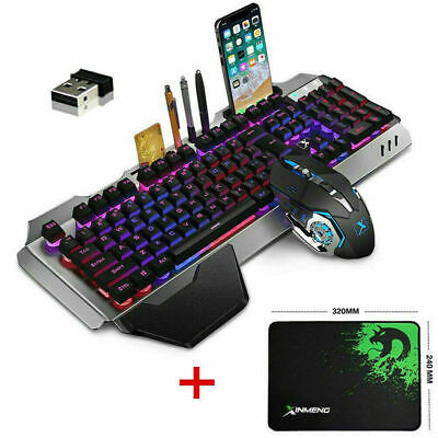 AU75.04 • Buy 3in1 Rechargeable Gming Keyboard Mouse Wireless LED Backlit Mechanical Feel AU