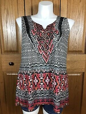 $15 • Buy Live And Let Live Woman's Tank Top Large Sleeveless Shirt Hi Low Sequin Size XL