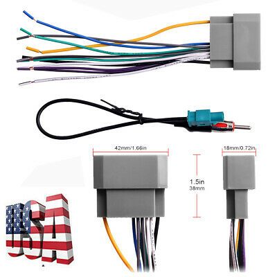 $8.44 • Buy For 2007-2016 Jeep Wrangler Car Stereo Radio Wiring Harness Antenna Adapter USA