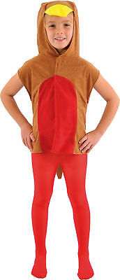 Childrens Robin Red Breast Bird Tabard Christmas Nativity Fancy Dress Costume UK • 14.49£