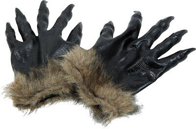 Adults Bad Wolf Werewolf Claws Gloves Paws Pair Halloween Fancy Dress Hands New • 9.49£