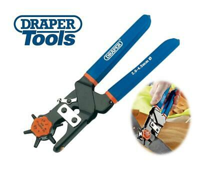 £11.49 • Buy Draper Revolving Leather Hole Punch Pliers 2-4.5mm Eyelets Bags Belts Upholstery