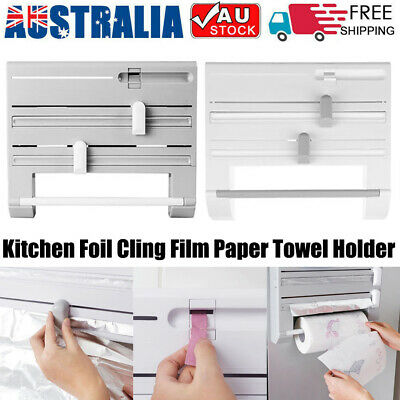 AU23.79 • Buy 6in1 Wall Mounted Kitchen Rack Towel Holders Foil Roll Organizer Film Dispenser