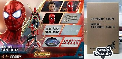 AU546 • Buy Hot Toys Iron Spider Avengers Infinity War Holland Parker 1/6 Scale MMS482