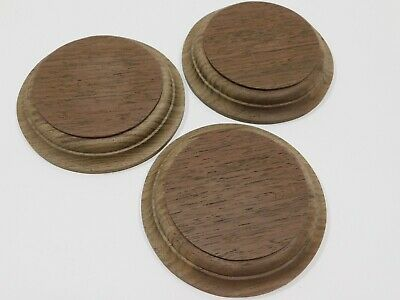 $6.83 • Buy Unfinished Wooden Round Plaque Stand Base Sign 4 1/8 X 3/4  Peruvian Walnut Wood