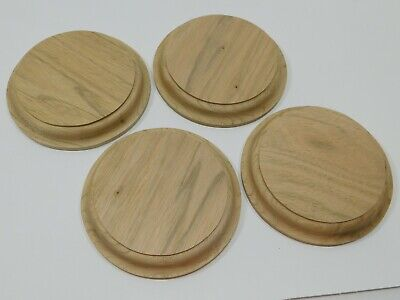 $8.09 • Buy Unfinished Wooden Round Plaque Stand Base Sign 5 X 7/8  Butternut Wood