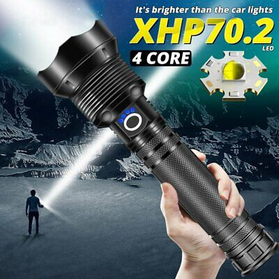 AU52.35 • Buy XHP70.2 Tactical Zoom 5 Mode Most Powerful LED Flashlight Lamp USB Hunting Torch