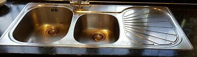 Franke Sink & Drainer Stainless Steel 1.5 Bowl 1120 X 500 • 10£