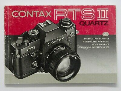 $ CDN24.14 • Buy Original Instruction Manual For Contax RTS II Quartz 35mm Camera