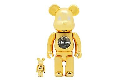$450 • Buy Atmos Gold Bearbrick Medicom Toy Be@rbrick 400% 100% Stars Sealed Rare Limited