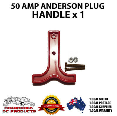 AU4.25 • Buy RED ANDERSON PLUG T HANDLE 50 AMP X 1  Premium Quality, Fast Post  50A/50 A