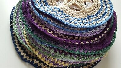 AU49 • Buy Lot Of 29 Crochet Circles Doilies D.I.Y Blanket Project Patchwork Craft