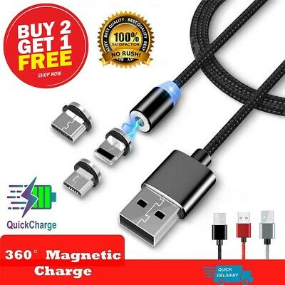 AU7.99 • Buy 1m-2m Fast Charge Magnetic Charging Cable  IOS / Android/ Type-C/ Micro USB