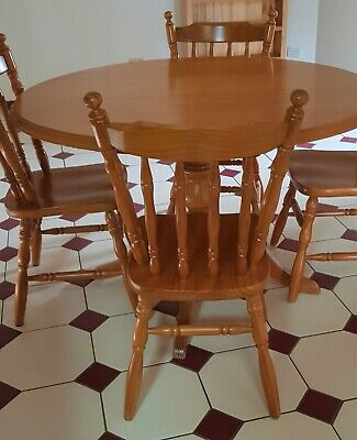 AU140 • Buy Timber Round Dining Table And Chairs