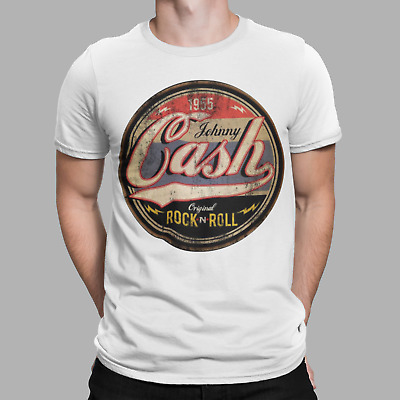 JOHNNY CASH T-Shirt  Music Rockabilly Rock And Roll Poster Prints Retro Gift   • 5.99£
