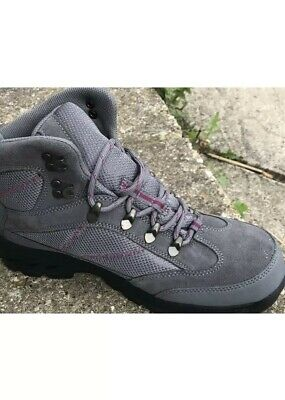 Clarks Ladies GTX Waterproof Walking Hiking Grey Leather Combi Boots Size 6 D • 41£