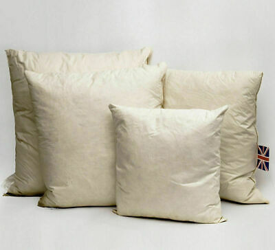 Duck Feather Down Cushion Pads Inner Insert Scatters Fillers Filled - All Sizes • 7.99£