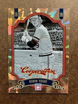 $0.99 • Buy Serial #/299 GOLD CRYSTAL ROBIN YOUNT 2012 Panini Cooperstown HOF Card #106
