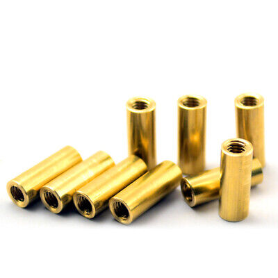 $3.49 • Buy M3.5 M4 Brass Knife Handle Screw Round Coupling Nuts Connector Knives DIY Rivets