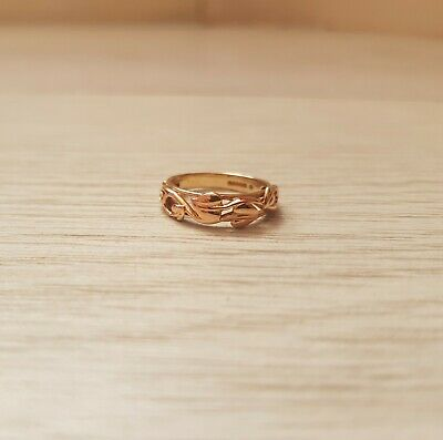 Clogau 9ct 9 Carat Yellow & Rose Welsh Gold Tree Of Life Band Ring Size G • 125£