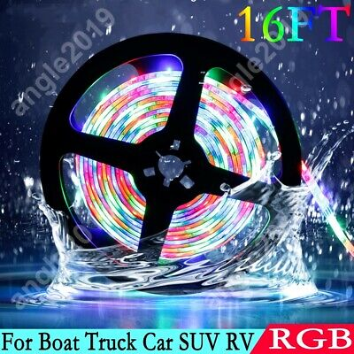 $12.99 • Buy RGB 12V Waterproof Multicolor LED Decor Light Strip For Boat Truck Car SUV RV