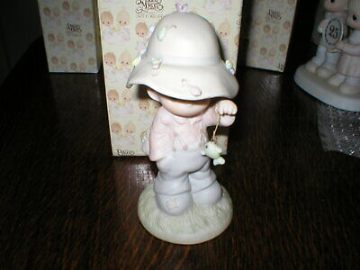 1986 Enesco Precious Moments Figurine ,my Love Will Never Let You Go Boxed • 14.99£