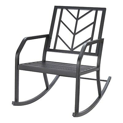 $99.99 • Buy Deluxe Outdoor Metal Rocking Chair Furniture Decor The Great Online Yard Deal