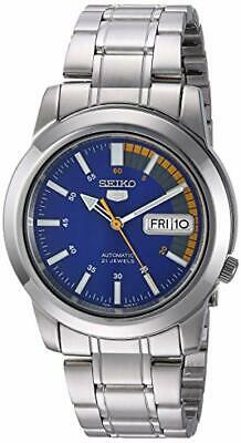$ CDN105.73 • Buy Mens Seiko 5 SNKK27  Speed Racer  Silver Automatic Blue Dial Watch *WITHOUT BOX