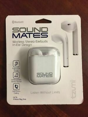 $ CDN21.29 • Buy  (10 Pairs)Tzumi 5761WM Sound Mates Bluetooth Earbuds With Charging Case - White