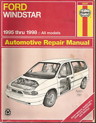 $8.98 • Buy Repair Manual-Limited Haynes 36097 FORD WINDSTAR 1995 - 1998 Only ~ ALL MODELS