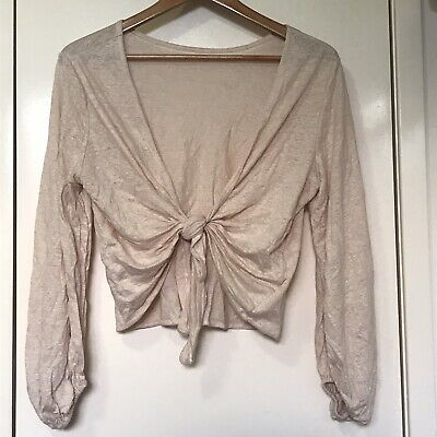 AU19.95 • Buy Kookai Rose Dust Ellerie Linen Top One Size New With Tag - Tie Up Design