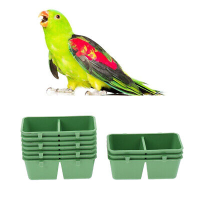10Pc Plastic Parrot Feeder Water Bowl 2 In 1 Bird Parrot Bowl Cups Bath Supplies • 4.84£