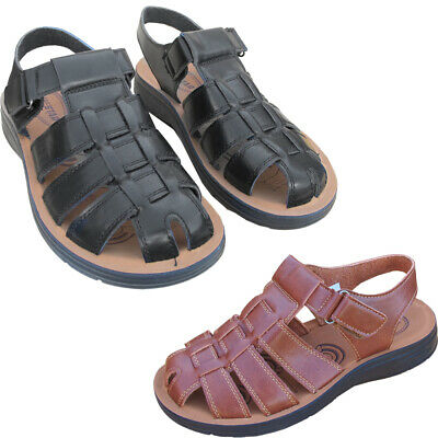 Mens Strappy Casual Faux Leather Gladiator Strapped Gents Outdoor Sandals Shoes  • 14.25£