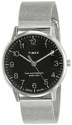 $54.95 • Buy Timex TW2R71500 Waterbury Men's Analog Round Watch Steel Mesh Bracelet