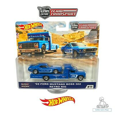 AU37.99 • Buy Hot Wheels Car Culture Team Transport 69 Ford Mustang Boss 302 Retro Rig