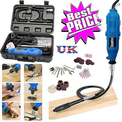 80pcs Rotary Power Drill Multi Tool Kit Grinder Set Dremel Crafting Accessory • 38.29£