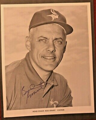 $59 • Buy Minnesota Vikings' Coach Bud Grant Signed Photo & Typed Letter Signed Autograph